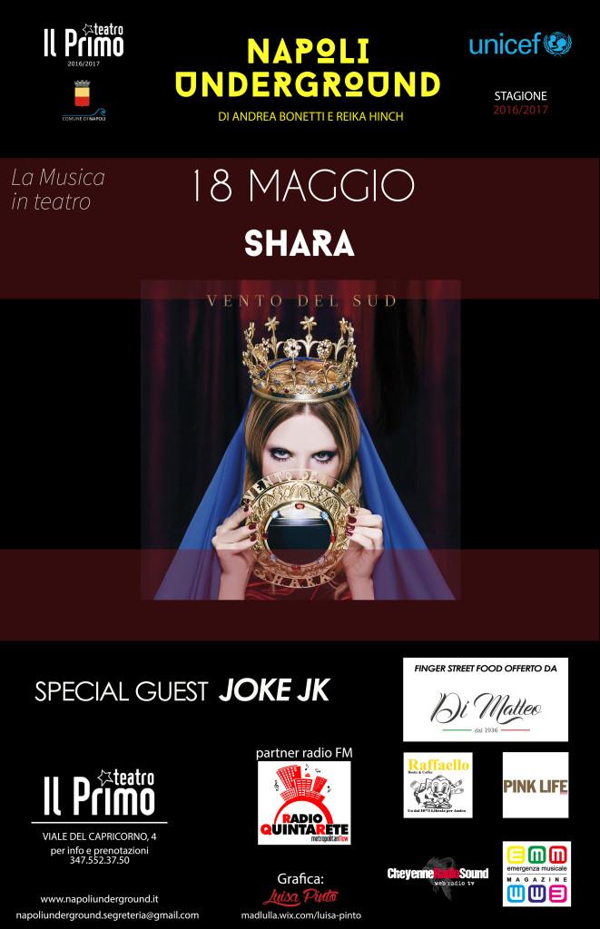 Locandina Shara concerto 18 Maggio 2017 definitiva